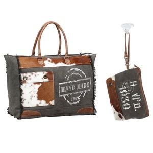 Myra Weekender Travel Tote Hairon Make Up Pouch